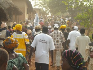 returning home after celebration-Koinadugu village