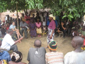 follow up visits to community in Kailahun