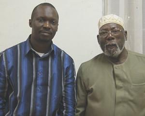 John Caulker with Alhaji Afiju Deen Saccoh.