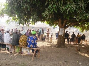 Meeting in Heremano village