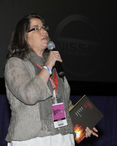 Libby Hoffman at a Nashville Film Festival Q&A April 15