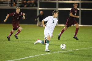 Gabe playing for Dartmouth Men's Soccer
