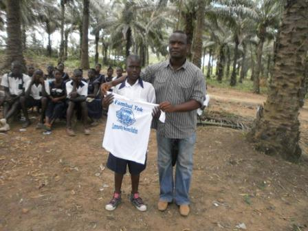 best competitor presented with FT T-shirt in Pujehun