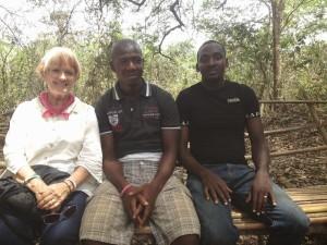 Sara Waldheim and Fambul Tok staff Ibrahim & Desmond