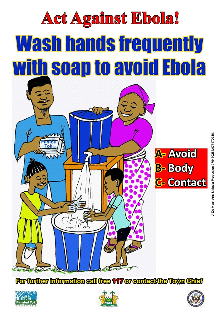 Act against Ebola poster