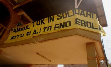 Banner on display to end ebola