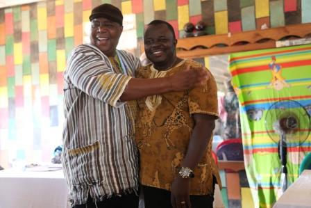 PC Henry Baion reconciles with Chairman of Kailahun District Council...Alex Bhonapha